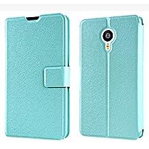Prevoa ® 丨Meizu MX4 PRO Funda - Flip Funda Cover Case para Meizu MX4 PRO 5.5 Pulgadas Smartphone - Azul