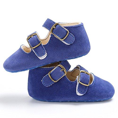 18 Baby Monate Sohle Wanderer Weiche Erste Miyasudy Neugeborenen Krippe Blau 0 Mädchen Krabbelschuhe Rutschfeste Solide Schuhe Lauflernschuhe 7OOBqF5