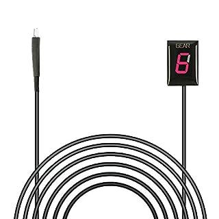 Indicateur de Vitesse étanche pour Moto Affichage LED Plug & Play pour Honda (Rouge)