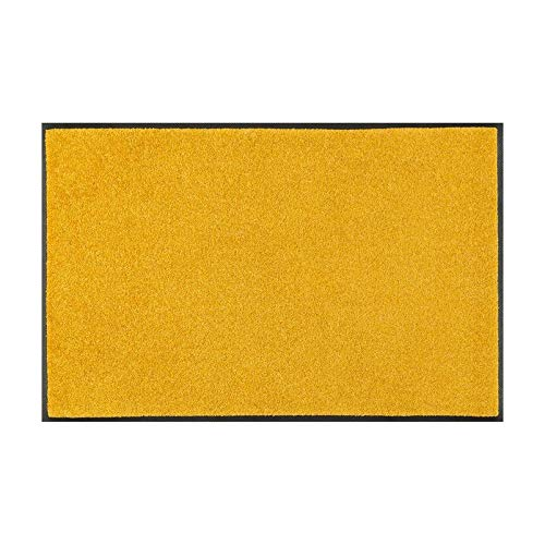 Wash&Dry 087908 Trend-Colour Honey Gold Fußmatte, Acryl, Gelb, 40 x 60 x 0.7 cm