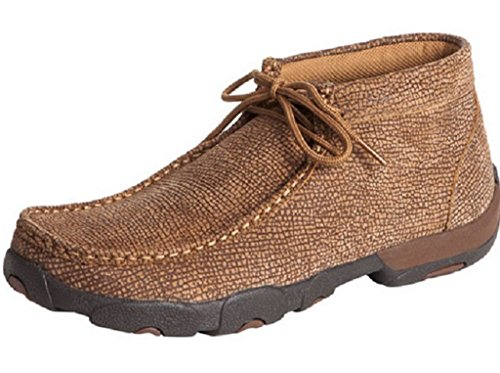 Twisted X Men's Distressed Grain Driving Mocs Distressed 8.5 D(M) US by Twisted X Boot Mocs Mocs
