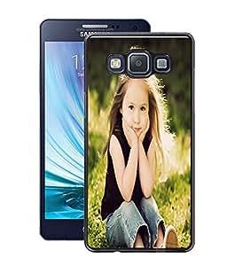 Fuson PVC-2D Metallic Pinted Giral Designer Back Case Cover for Samsung Galaxy A5 SM-A500F-D731
