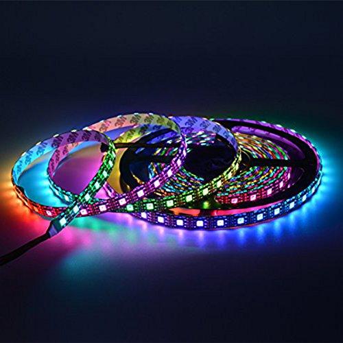 ABAOTECH APA102C APA102 RGB 5M 60 LEDs/Pixels/m Schwarz PCB Streifen mit 5050 SMD LEDs 5V Wasserdicht IP65