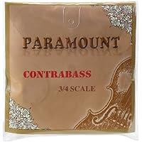 Classic Cantabile KB34 Kontrabass Saiten (Strings, für 3/4 Größe, rund gewickelt, jede Saite in beschrifteter Einzelhülle)