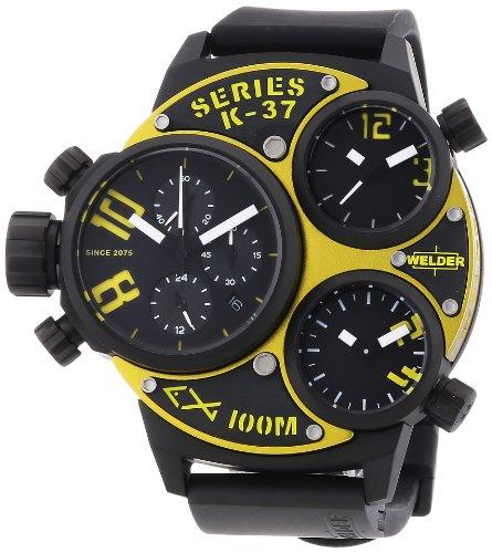 Welder - K37 6501 - Montre Mixte - Quartz Chronographe - Bracelet Caoutchouc Noir