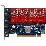 TDM400P -4 FXO+0 FXS,Tarjeta PCI de 4 puertos analogicos VOIP