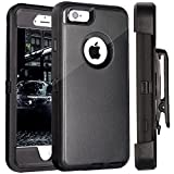 iPhone 6S Case Plus, Fogeek PC TPU Combo Protective Case for iPhone 6 Plus & iPhone 6S Plus w/ 360 Degree Rotary Belt Clip & Kickstand (Black)