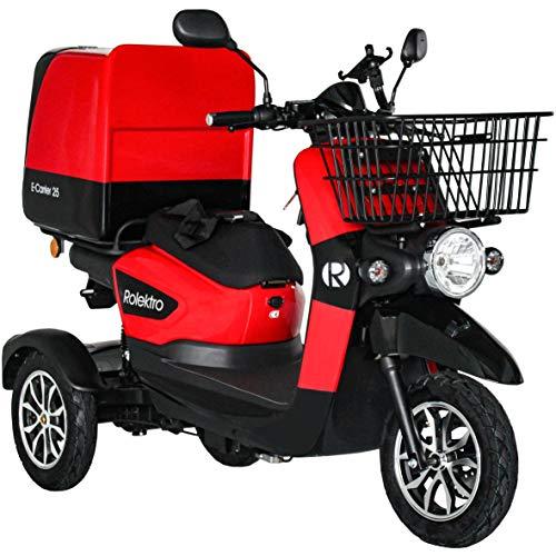 Rolektro E-Carrier-25 Elektroroller 1000W Lieferroller 25km/h 3-Rad Elektromobil Dreirad E-Scooter Roller EU-Zulassung