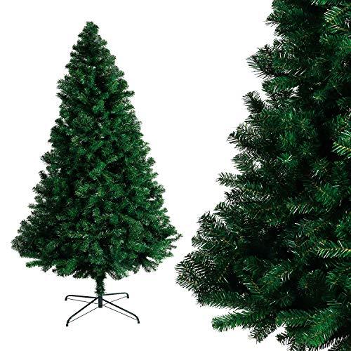 Albero di natale bianco verde, albero di natale artificiale in pvc ignifugodi in diverse misure ( verde, 1,5 metri )
