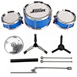 ulable 3-teilig Kinder Drum Set Kinder Junior Drums Kit Percussion Musikinstrument