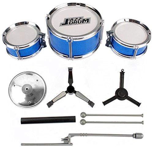 leoboone 3-Piezas de la sabiduría de los niños Grupo de percusión para niños Junior Tambores Kit de simulación de Jazz Tambores de percusión Instrumentos Musicales Juguetes para Desarrollo