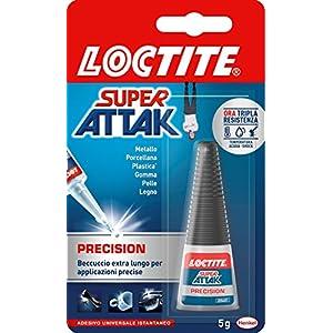 Loctite Super Attak Precision, Colla liquida trasparente con beccuccio extra lungo, Colla universale istantanea… 6 spesavip