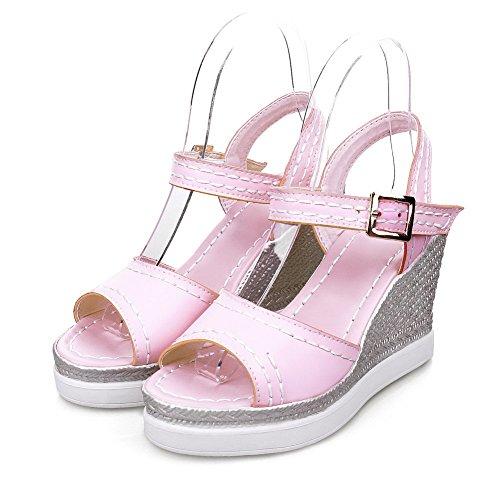 Weiches Absatz Pink Hoher Voguezone009 Schnalle Sandalen Damen Material Offener Zehe HXwHEZqz