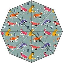 Fox Auto paraguas poliéster Pongee paraguas automático plegable paraguas