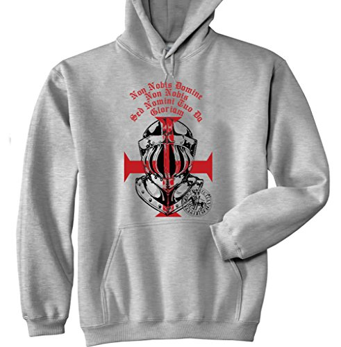 Teesquare1st Men's KNIGHTS TEMPLAR HELMET White Hoodie T-Shirt