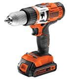 Black and Decker EGBHP188K-QW - Taladro sin cable percutor, 18 V, 454 W, color negro y naranja