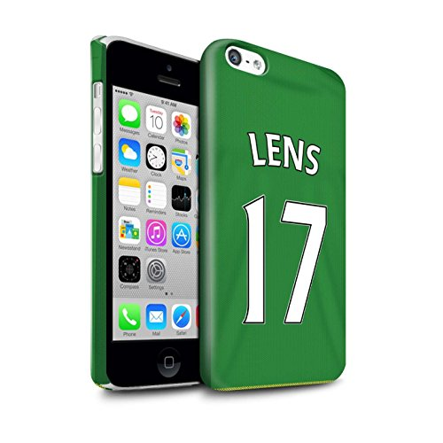 Offiziell Sunderland AFC Hülle / Glanz Snap-On Case für Apple iPhone 5C / Harper Muster / SAFC Trikot Away 15/16 Kollektion Lens