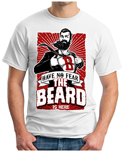 OM3 - SUPER-BEARD - T-Shirt GEEK, S - 5XL Weiß