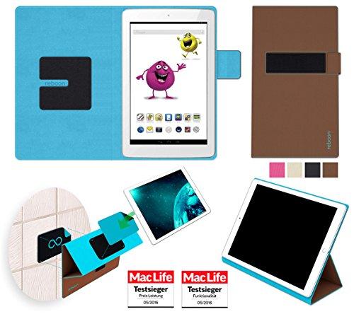 reboon Hülle für Odys Junior Tab 8 Pro Tasche Cover Case Bumper | in Braun | Testsieger