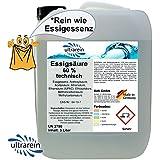 5L (5000ml) Vinagre Acid 60% * pura como Vinagre de esencia para descalcificación de todo tipo universal de limpieza descalcificador–Limpiador
