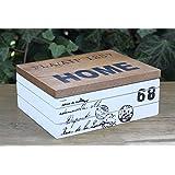 Caja de madera Home 68rectangular Vintage Retro Shabby rústico Caja