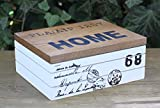 Holzdose Home 68 Vintage Retro Shabby Landhaus Kiste