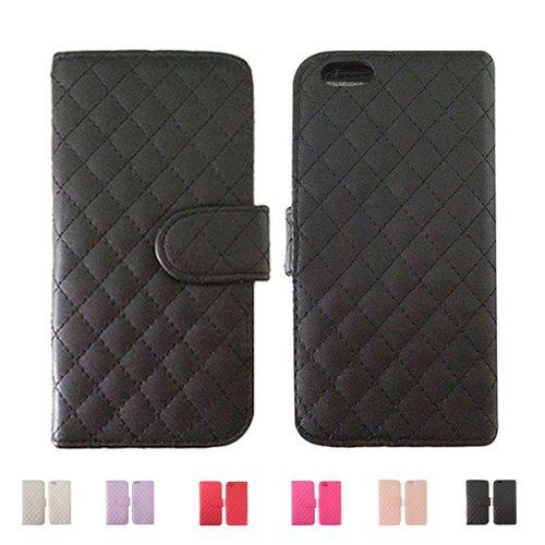 F8Q flip antichoc PU étui de protection magnétique Carte de étui en cuir Porte monnaie pour iPhone 6S plus Noir