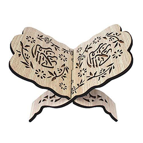 Hölzernes Bücherregal Koran Koran Heiliges Buch Ständer Halter Eid Bibel Stehen Holz Geschnitzt Multifunktionales Buch