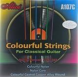 Cuerdas de nylon alice, cuerdas para guitarra clásica (a color)