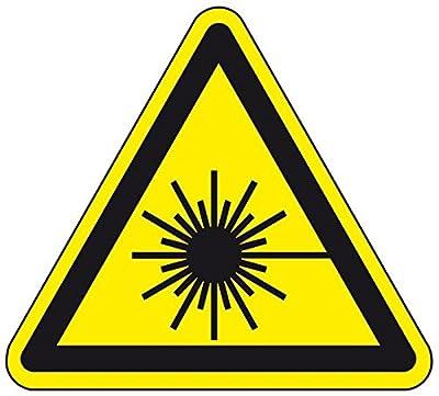 LEMAX® Warnschild Warnung vor Laserstrahl, ASR/ISO, Folie, selbstklebend, SL 200mm