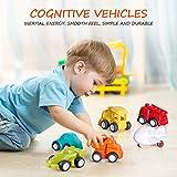 VATOS Jungen und Mädchen Kinder Spielzeug Autos, 6er Pack Kinder Fahrzeuge, bewegliche Reifen Zum anschieben, für Kinder von 1,5 - 4 Jahren