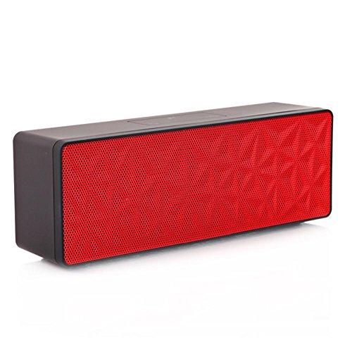 Bluetooth-Lautsprecher Drahtloser Freien wasserdichter Lautsprecher Subwoofer im Freien Computer-Lautsprecher Touch Control drahtlose Übertragung 5w Lautsprecher-Karte 3D Surround Sound, Red