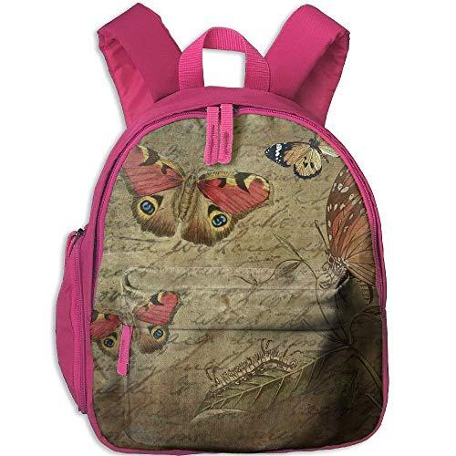 Kindergarten Boys Girls Backpack Butterfly School Bag