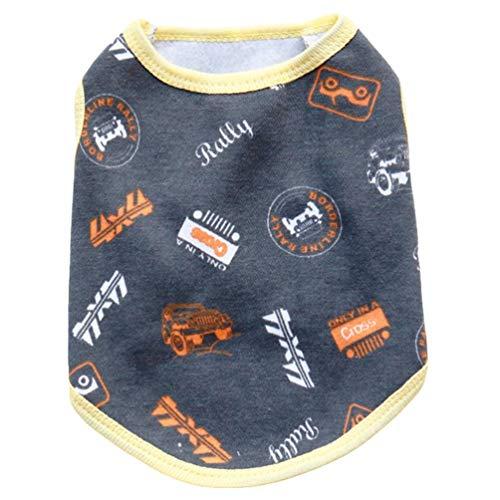 YiiJee Niedlich Hund Kleidung Weich Haustier Hund Weste Hündchen Atmungsaktiv T-Shirt As Blid2 XS