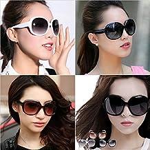 calistous Super Resistencia y durabilidad de Big Gafas–Gafas de sol Oversized Mujer Negro