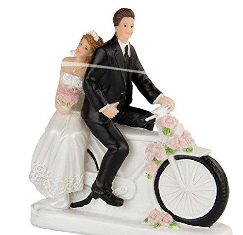 Folat Hochzeit Figur-Braut und Bräutigam mit Bike - Hochzeit Fahrrad