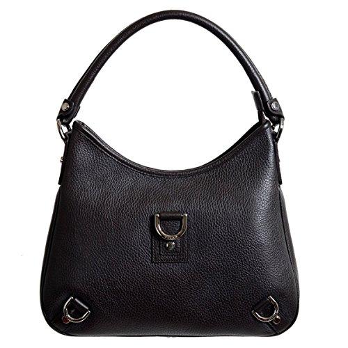 Gucci-Womens-Dark-Brown-100-Leather-Handbag-Shoulder-Bag