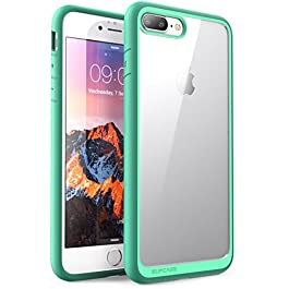 SUPCASE Custodia iPhone 8 Plus iPhone 7 Plus, Cover Antiurto [Shock Absorbing] Angoli Rinforzati – Pannello Posteriore Trasparente – Bumper