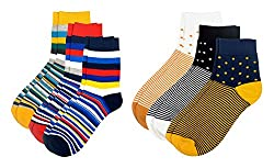Color Fevrr Mens Cotton Socks (Multi-Coloured, Pack of 6)