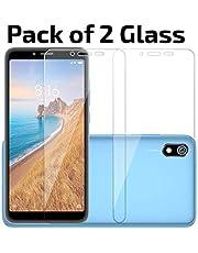 POPIO Tempered Glass screen protector for Xiaomi Redmi 7A / Xiaomi Redmi 6A / Xioami Redmi 6 (Transparent) Edge to Edge Full Screen Coverage (Pack Of 2)