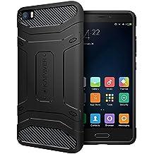 KAPAVER Funda dura y resistente para Xiaomi Mi5, resistente a los golpes, color negro sólido
