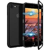 CE-Link iPhone 7 Hülle iPhone 8 Hülle Glas mit Magnetisch Panzerglas Rückseite Durchsichtig Handyhülle Transparent... preisvergleich bei billige-tabletten.eu