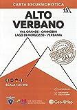 Carta escursionistica Alto Verbano. Scala 1:25.000. Ediz. italiana, inglese, francese e tedesca