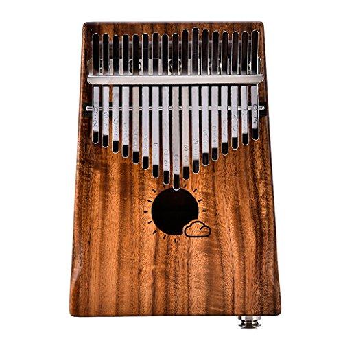 Dabixx Musik-Spielzeug-Set, 17 Tasten Finger-Daumen-Klavier-Set Kalimba Mbira Natural Acacia Keyboard Instrument