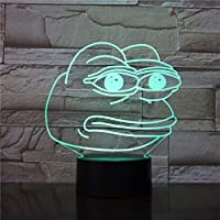 WoloShop Pepe The Frog LED Lamp Colour Changing USB Night Light