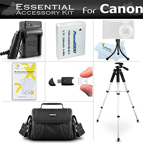 Essential Accessories Bundle Kit For Canon PowerShot SX170 IS SX520 HS SX530HS SX530 HS SX540 HS Digital Camera Includes Replacement (1200maH) NB-6L Battery + Charger + Case + 57 Tripod + More  available at amazon for Rs.6382
