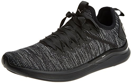 Puma Damen Ignite Flash Evoknit Satin Cross-Trainer, Schwarz Black-Periscope-Metallic Beige, 39 EU
