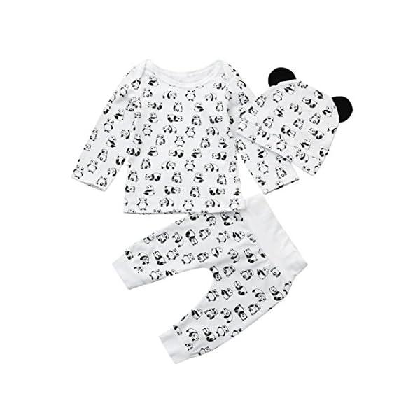 Camisas y Pantalones con Gorras Bebe Navidad Pijamas Enteros de Invierno para Niño y Niña por ESAILQ E 1