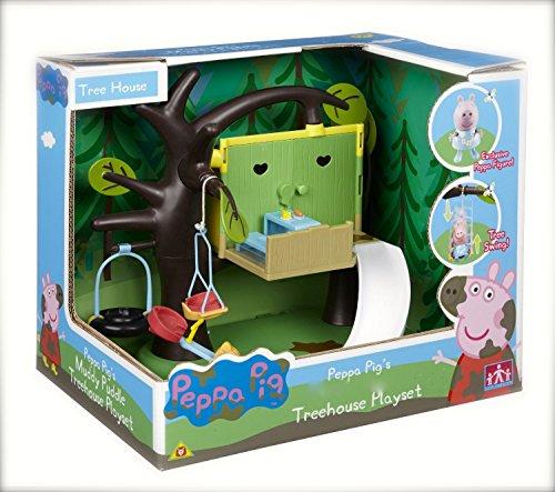 Peppa Pigs Tree House playset - Tree House Den - Tyre swing, Slide, See Saw & Picnic Table & Peppa!