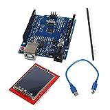 MagiDeal UNO R3 Mega328p Board Mit TFT 2,4 Zoll Touch LCD Bildschirm Modul Für Arduino